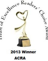 Angel's Assassin wins 2013 Heart of Excellence Award in the Historical Romance Novel category