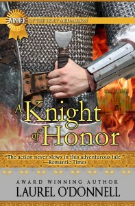 Romance Novel Cover for Medieval Romance A Knight of Honor