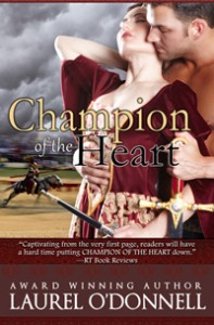 Romance novel cover for Champion of the Heart by Laurel O'Donnell