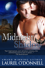 Romance novel cover for the medieval romance Midnight Shadow
