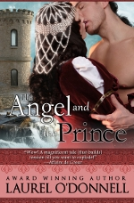 Romance novel cover for the medieval romance The Angel and the Prince